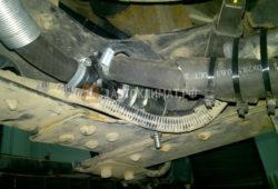 Установка жидкостного подогревателя Теплостар 14ТС-10 на Hyundai HD 78