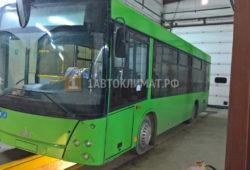 Установка воздушного отопителя Webasto Air Top 2000 STC на автобус МАЗ