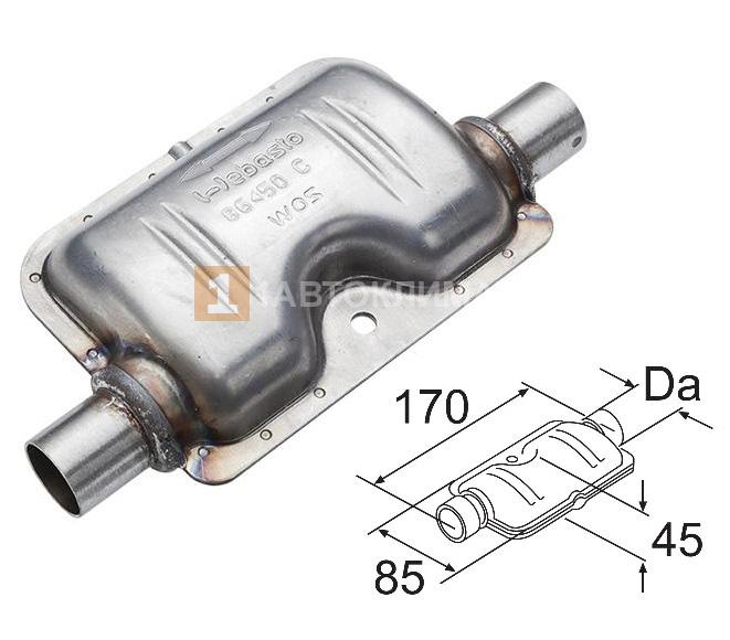 Глушитель выхлопной Ø22 мм