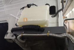 Установка воздушного отопителя ПЛАНАР 2Д-24 (2 кВт) на грузовик Mercedes-Benz Atego в кабину