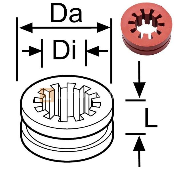 Дистанционное кольцо с пазом (резина) / 1300697A