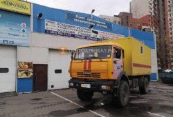 Установка предпускового подогревателя Теплостар 14ТС-10 24В МК на грузовик КАМАЗ