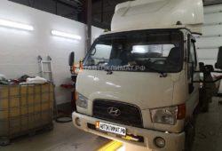 Установка предпускового подогревателя Теплостар 14ТС-10 24В МК на коммерческий грузовик Hyundai HD 78