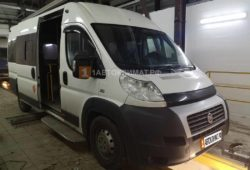 Установка в кабину белого фургона FIAT DUCATO отопителя Планар 44Д-12-GP