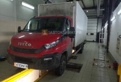 Установка отопителя Планар 44Д в кабину грузовика Iveco Daily