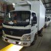 Установка воздушного отопителя ПЛАНАР 2Д-12 (2 кВт) в кабину грузовика Foton Aumark