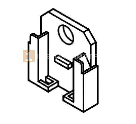 Крепление колодки предохранителей (пластик, металл) / ВБ