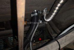 Подключение воздухозабора и топлива к отопителю