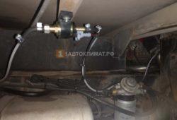 Подключение воздушного отопителя к баку автомобиля