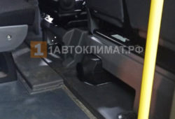 Размещение воздушного отопителя в салоне пассажирской ГАЗЕЛи