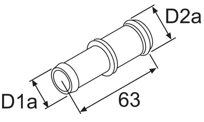Патрубок соединительный 18х20  упаковка10 шт. (пластик)