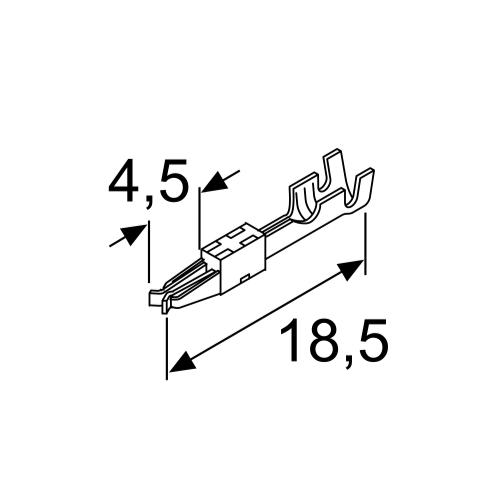 Разъём электрический штырьковый (металл)