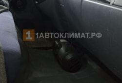Размещение воздушного отопителя в кабине грузовика