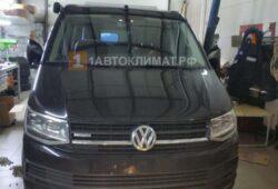 Установка воздушного отопителя Webasto Air Top Evo 40 (дизель, 12 В) в кабину микроавтобуса Volkswagen Transporter T6