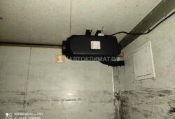 Монтаж и подключение отопителя к задней стенке будки