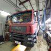 Установка в изотермический фургон грузовика марки MAN воздушного отопителя ПЛАНАР 44Д-24-GP ( 4 кВт)