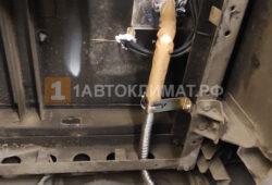 Вывод выхлопных газов из салона с помощью гофротрубы