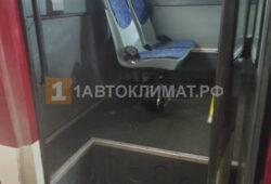 Установка отопителя под последним рядом пассажирских сидений
