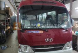 Установка в салон автобуса Хендай Каунти воздушного отопителя ПЛАНАР 44Д-24-GP ( 4 кВт)