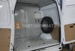 Монтаж бака отопителя в грузовой части микроавтобуса