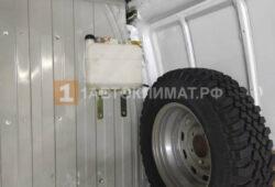 Монтаж бака и отопителя в грузовой части микроавтобуса