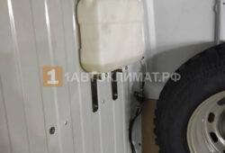 Монтаж бака и топливного насоса отопителя в грузовой части микроавтобуса