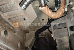 Монтаж выхлопной гофротрубы отопителя