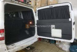 Монтаж топливного отопителя бака под обшивку двери багажника