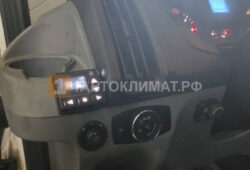 Монтаж пульта управления подогревателя слева от водителя
