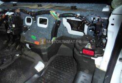 Размещение кондиционера за передней панелью