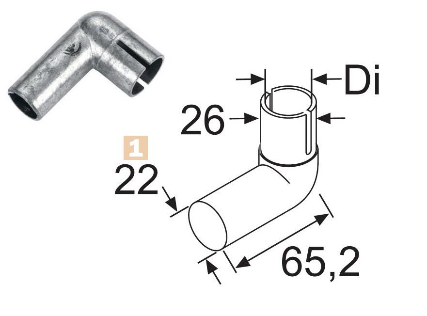 Шланг выхлопа угловой Ø22 (металл) / 28472C