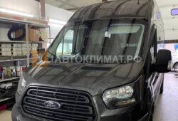 Установка воздушного отопителя СПУТНИК-2Д 12В (2 кВт) в кабину цельнометаллического фургона Ford Transit на ПТО Пульсан