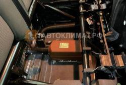 Монтаж отопителя СПУТНИК 2-Д 12В под пассажирским сиденьем микроавтобуса