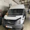 Установка воздушного отопителя ПЛАНАР 44Д-12-GP ( 4 кВт) в салон микроавтобуса Ford Transit на ПТО Пульсан