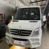Установка воздушного отопителя ПЛАНАР 44Д-12-GP ( 4 кВт) в салон микроавтобуса Mercedes Sprinter на ПТО Пульсан