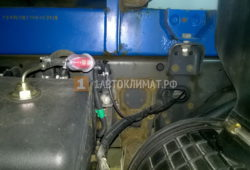 Установка предпускового подогревателя Webasto Thermo Pro 90 на грузовик Volvo FL