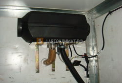 Установка отопителя Планар 44Д-12 в фургон Фольксваген Крафтер